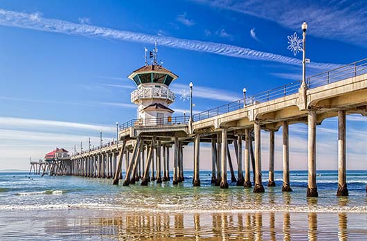 The pier on Huntington Beach, California