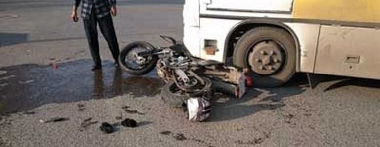 California Motorcycle-Truck Collision