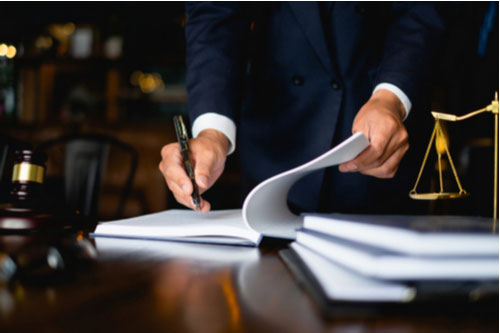 Rancho Mirage personal injury lawyer preparing for trial
