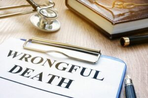 How is wrongful death defined in California?