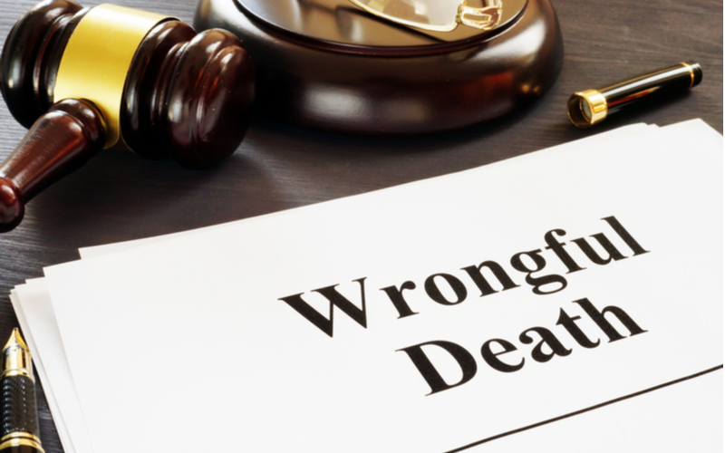 This is an image of a wrongful death case file on the desk of a Morongo Valley wrongful death lawyer