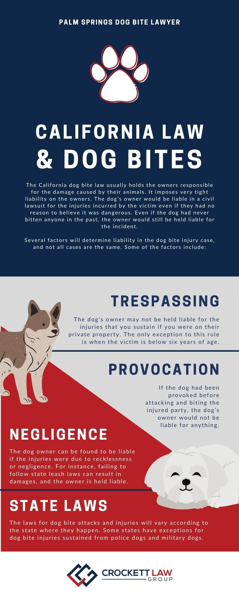 Palm Spring Dog Bite Accident Lawyer Infographic