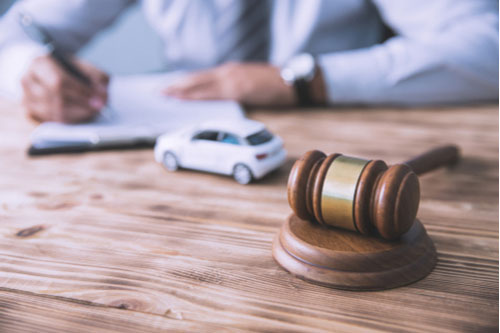 Attorney filing lawsuit for car accident losses