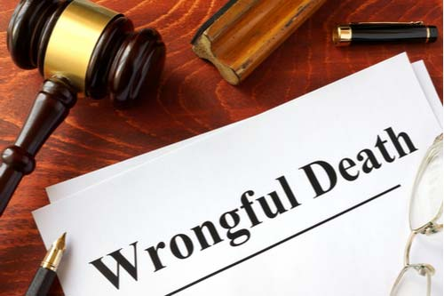 judge gavel and wrongful death case